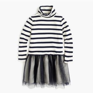 NWT CREWCUTS STRIPED TULLE DRESS